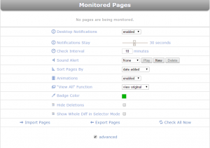 Monitor pages for SEO
